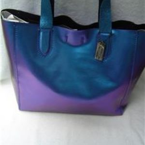 NEW COACH HOLOGRAM LEATHER LARGE DERBY TOTE #59388